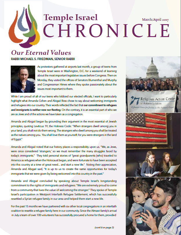 March April Chronicle cover