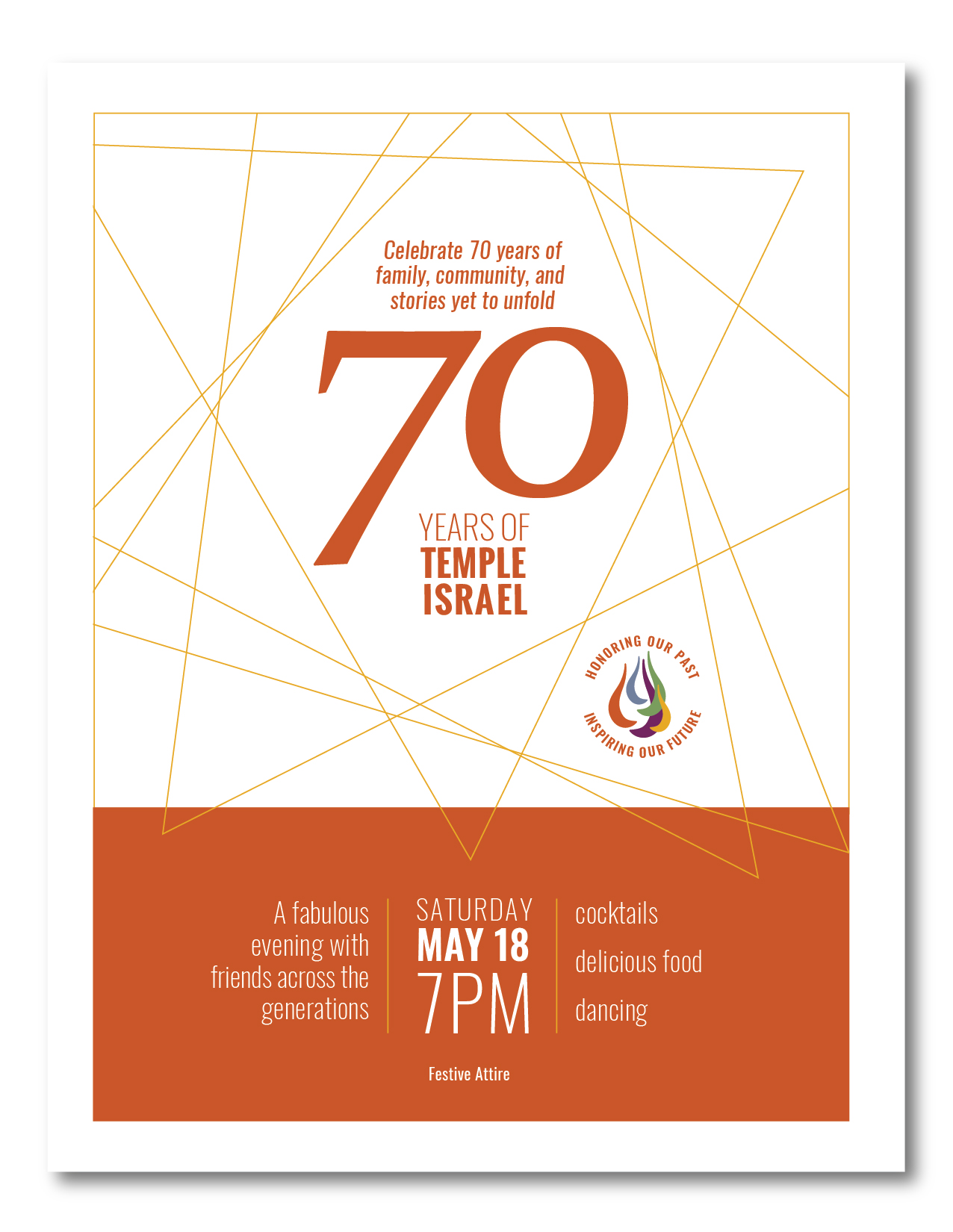 hp image_celebrate 70 invitation