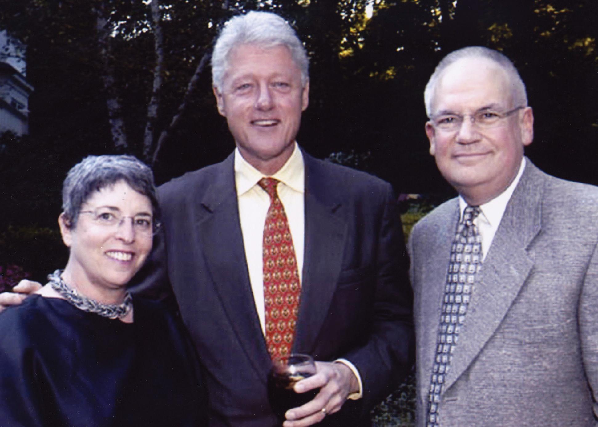 Rabbi O, Joyce & Bill Clinton from RO office