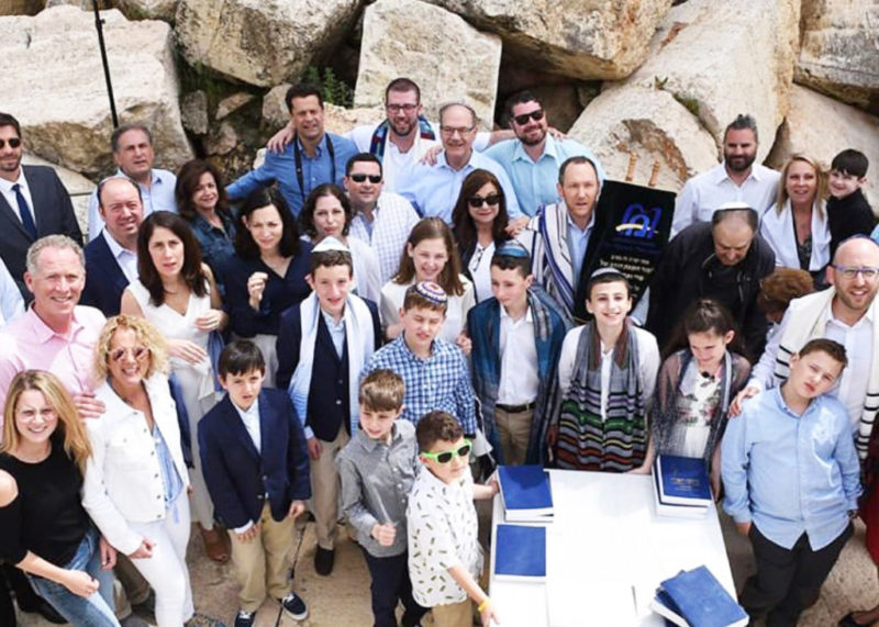 bnei mitzvah group photo